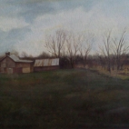 Gilied Farm, oil on paper-NFS