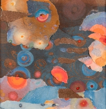 "Blue Water, 13 x13"", framed"
