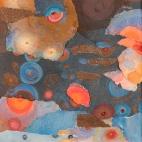 Blue Water Red Spots, 16x16 8104698
