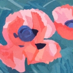 "Christy's Poppies, 12.25 x 4.25"" 6481"