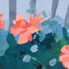 """Sue's Poppies 2, 12.25 x 4.25"""", 6483"""