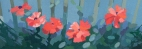 "Sue's Poppies, 12.25 x 4.25"" 6484"