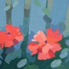 """Sue's Poppies, 12.25 x 4.25"""" 6484"""