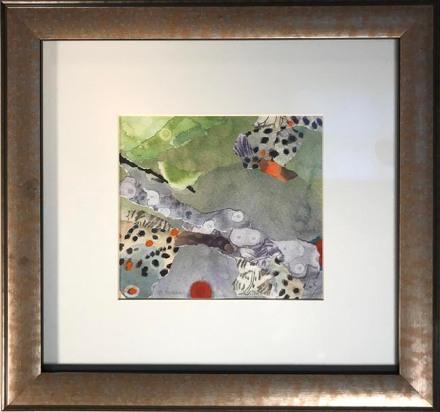 """Ute Summer, 13.75 x 11.75"""" framed  $225"""