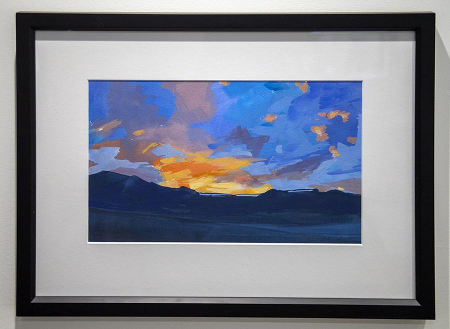 Landscape, summer evening, mountains, Colorado, Rio Grande National Forest