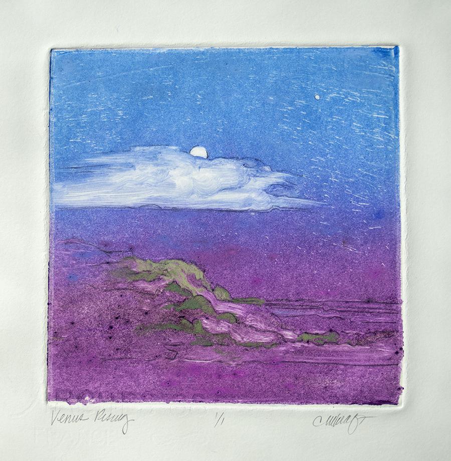 Venus, Moon, landscape